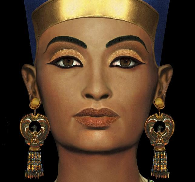 Busto de la reina egipcia Nefertiti, en el Neues Museum de Berlín