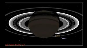 Simulación de como sería la fotografía de Cassini.