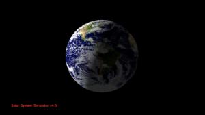 Simulación de la porción de Tierra iluminada.