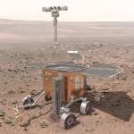 Imagen artística del rover ExoMars en Marte