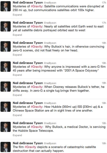 Algunos de los tweets de Neil