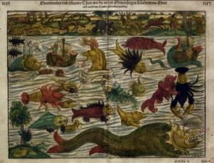 """Una colección de extrañas y misteriosas criaturas encontradas en la """"Carta Marina"""" de Olaus Magnus (siglo XVI)"""