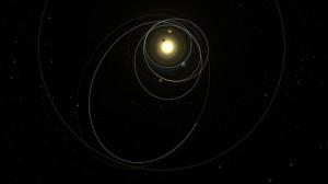 El viaje de Rosetta. Photo: ESA