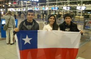 Delegados Chilenos del National Youth Science Camp 2013 – Nicolás Riquelme, Carla Aránguiz and Dusan Marinkovic. Foto cortesía de la Embajada de EEUU.
