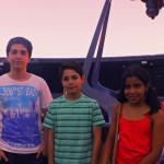 Juanito, Pedrito y Pepita (ok, olvidamos pedirles los nombres u_u... lo siento niños, igual los queremos por haber sido nuestros primeros entrevistados)