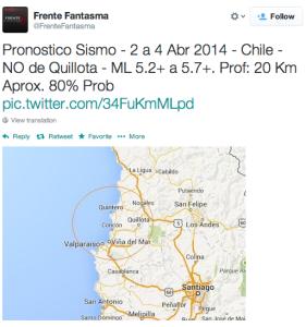 Predicción para el sismo del 4 de abril en Valparaíso.