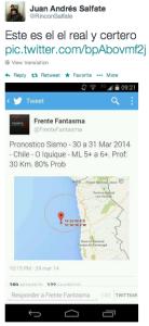 Pronóstico de Frente Fantasma publicado por Andrés Salfate.