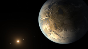 Representación artística de Kepler 186f. Créditos: NASA