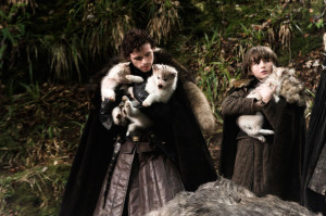 Robb,_Bran_and_wolves