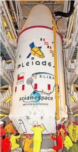 Cohete en el que fue lanzado el FASat-Charlie. Créditos: ESA/Arianespace.