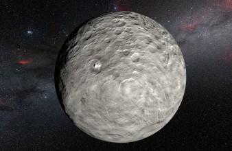Impresión artística de la superficie de Ceres. Créditos: ESO.