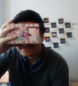 Rodrigo Herrera-Camus mostrándonos la aplicación RosettaTour.